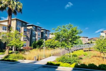 Fruitdale Station Apartments Outdoor Walkway
