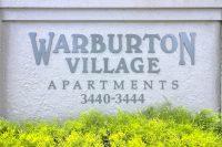 Warburton Village Apartments Sign
