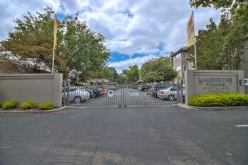 Warburton Village Apartments Gated Parking Lot Entrance