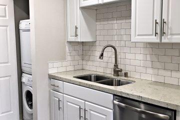 Apartment Unit Kitchen & Laundry Area