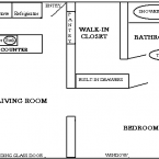 Apartment Jr. One Bedroom Floor Plan