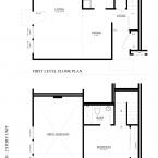 1 bed 1 bath 2 story apartment floor plan