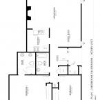 2 bed 2 bath 1 story apartment floor plan