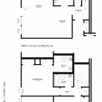 Apartment 2 Bed 2 Bath Two-Story Floor Plan