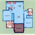Apartment B1 Floor Plan