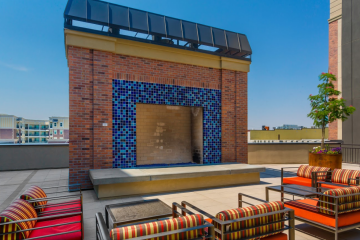The Vue at Sugar House Crossing Community Fireplace