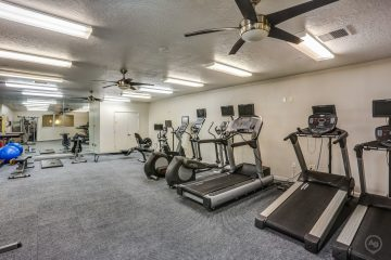 Axis at 739 Apartments Fitness Center Gym Equipment