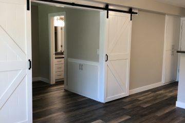Living Room with Barn Sliding Doors