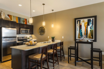 The Vue at Sugar House Crossing Apartment Kitchen & Dining Room