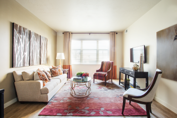 The Vue at Sugar House Crossing Apartment Living Room