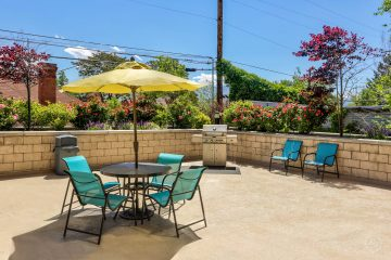 Axis at 739 Apartments Outdoor Patio & BBQ Area