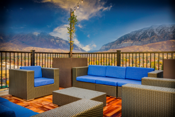 Midtown 360 Rooftop Lounge Seating