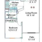 Apartment A1 Floor Plan