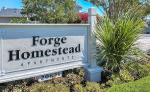 Forge Homestead Apartments Entrance Sign