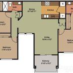 Apartment Gemello Village 3br 2ba Floor Plan