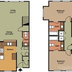 Apartment Gemello Village 2br 2.5ba Floor Plan