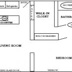 Apartment One Bedroom Floor Plan