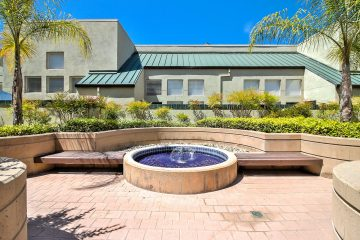 The Podium Apartments Outdoor Seating & Water Feature