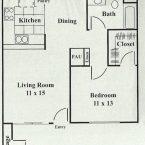 Apartment Wysteria Floor Plan