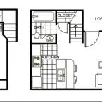 Apartment **1 BED. LOFT ** Floor Plan