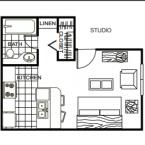 Apartment ** STUDIO ** Floor Plan