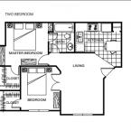 Apartment **2 BEDROOM ** Floor Plan