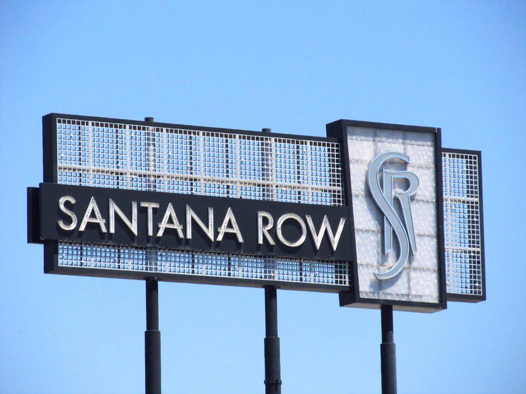 Santana Row Sign | Santa Clara City Guide | Nearby Shopping