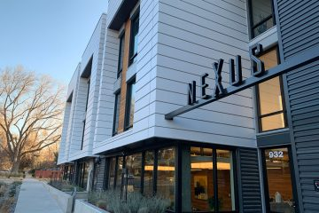 angled view of nexus on 9th front entrance