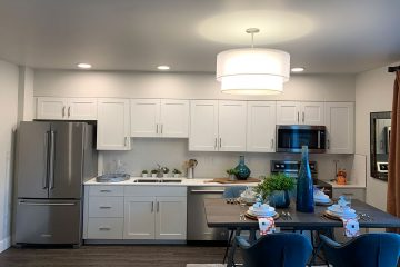 view of kitchen of nexus on 9th apartment interior