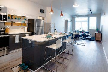 C9 Flats Unit Kitchen & Living Room