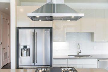 Paragon Station Apartment Unit Kitchen Sink, Stove, & Fridge