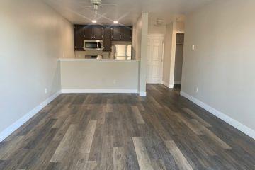 Flora Vista Apartment Unit Living Room & Kitchen