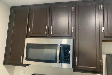 Flora Vista Apartment Unit Kitchen Cabinets & Microwave