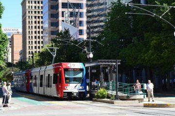 Salt Lake City TRAX Light Rail Car