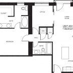 Apartment 301 - 1x2 D2 Floor plan